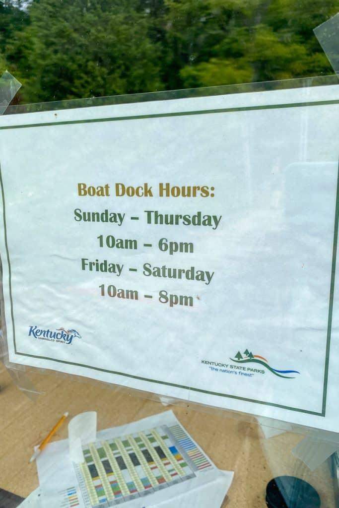 Kincaid Lake Boat Dock Hours