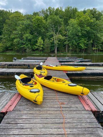 Kincaid Lake State Park Boat Dock