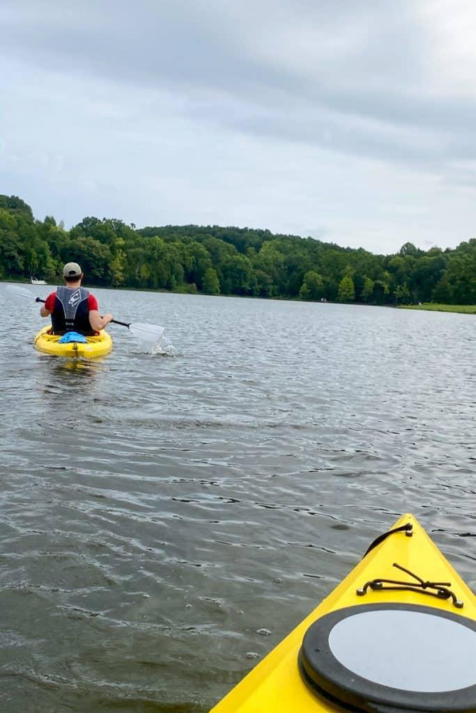 Kayaking in Kincaid Lake