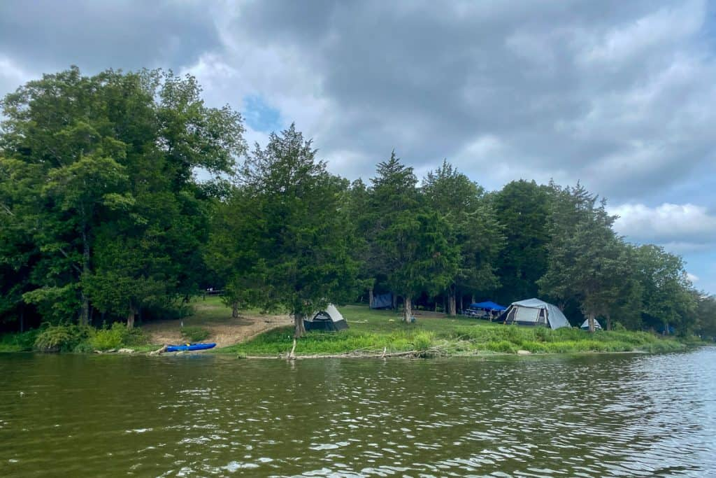 Lakeside Tent Camp Sites