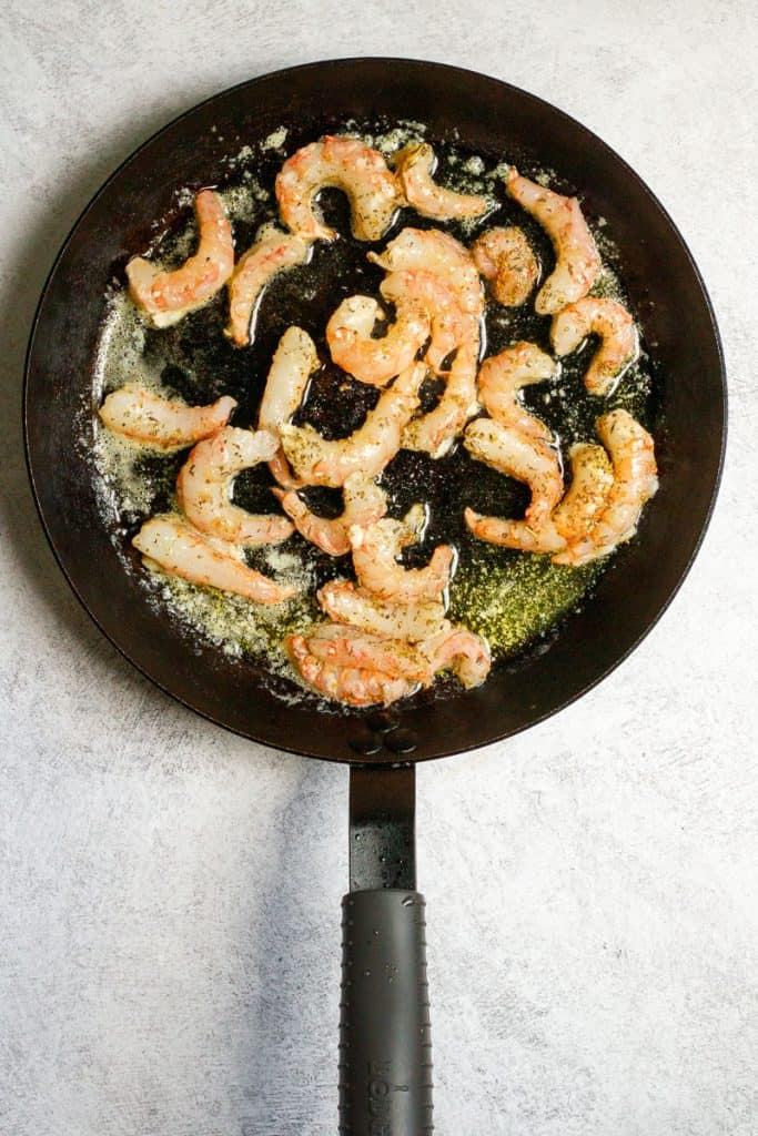 Add Spot Prawns to Melted Butter.