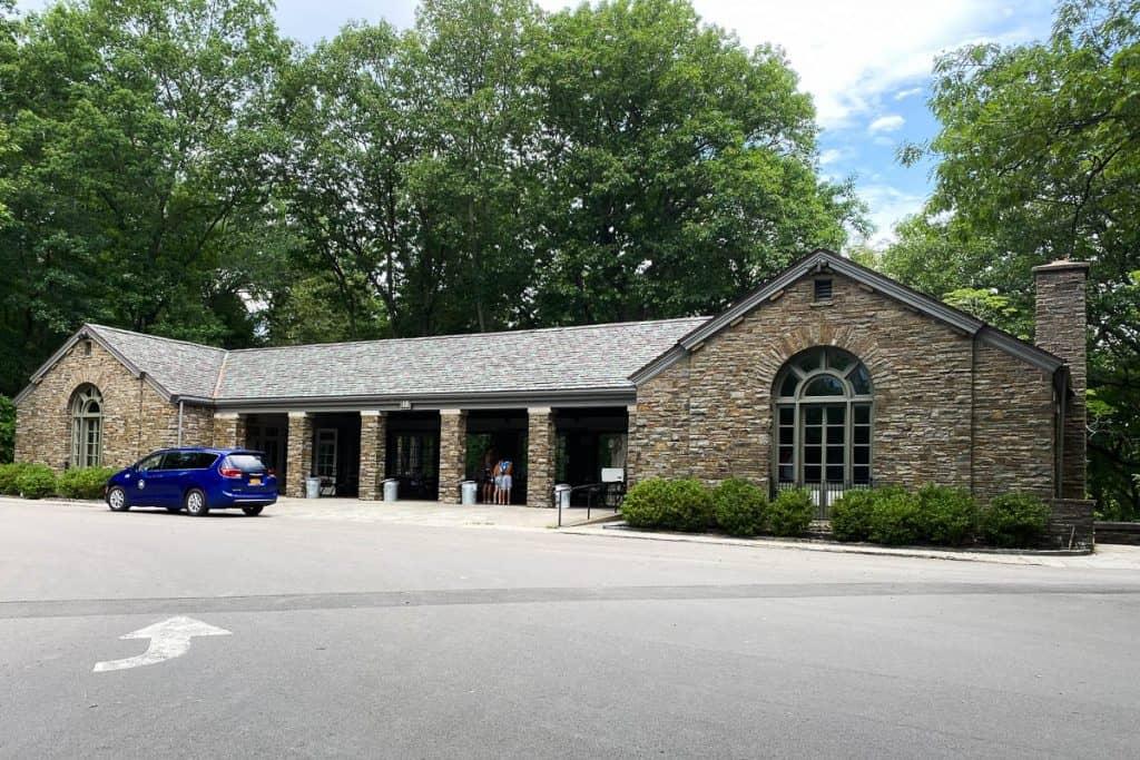 Stone pavilion building