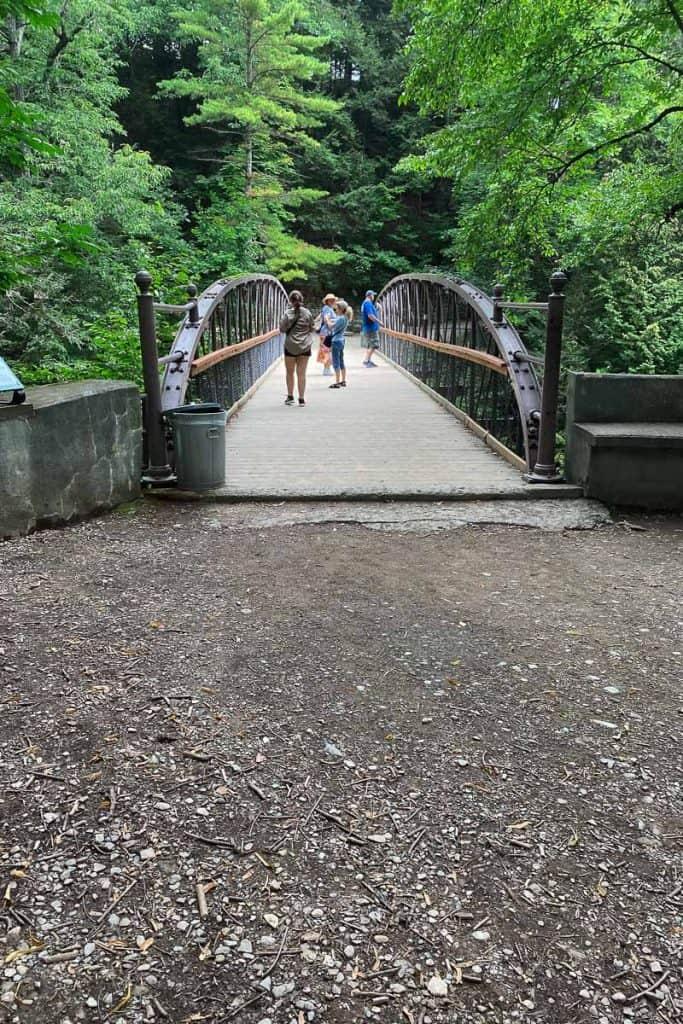 Suspension Bridge Crossing the Gorge at Watkins Glen State Park