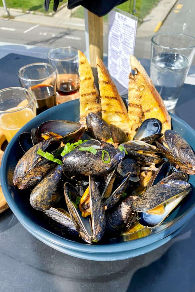 Beer Mussels at Atlantic Brewing Company.