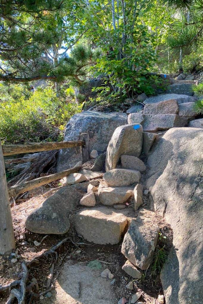 Stone Staircase on the Beehive Trail.
