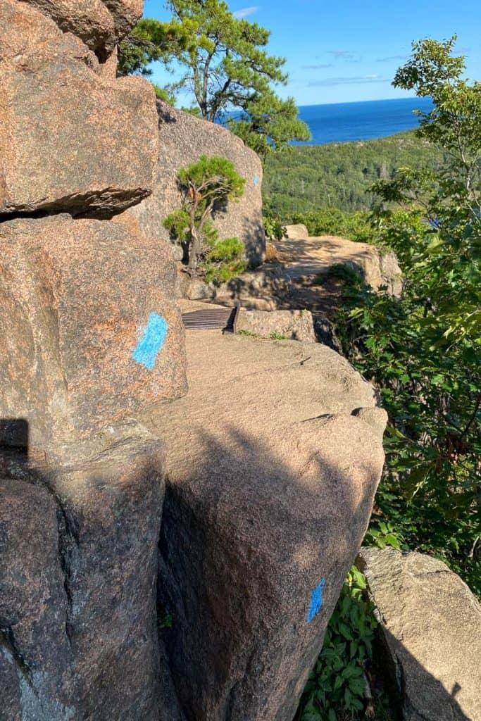 Trail Becomes a Rock Scrambling Path.