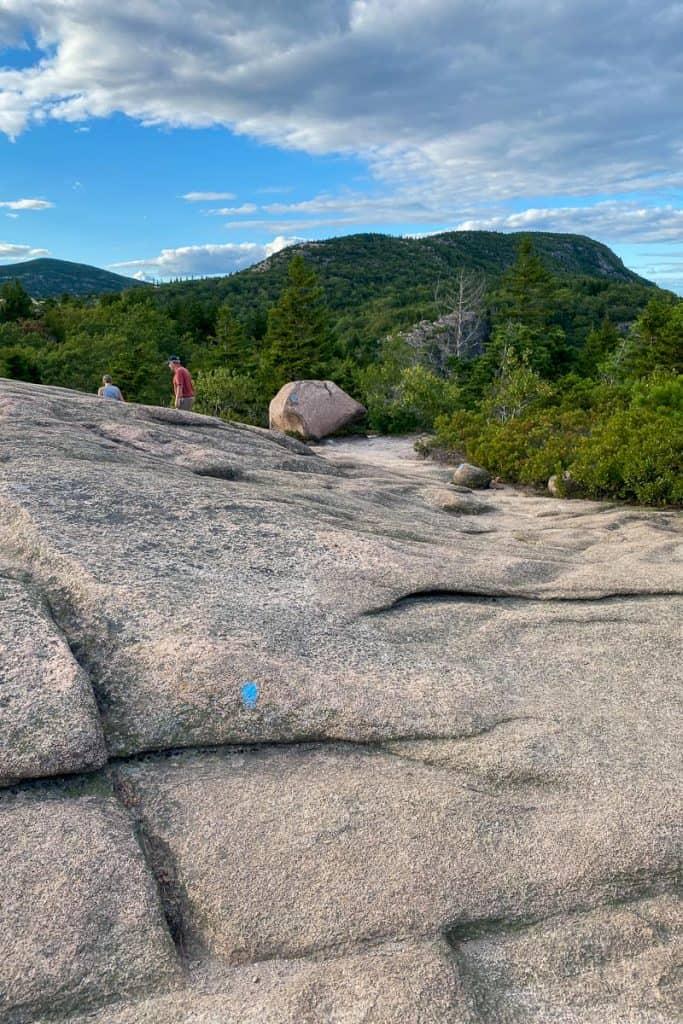 Follow the Blue Trail Blazes Down the Mountain.