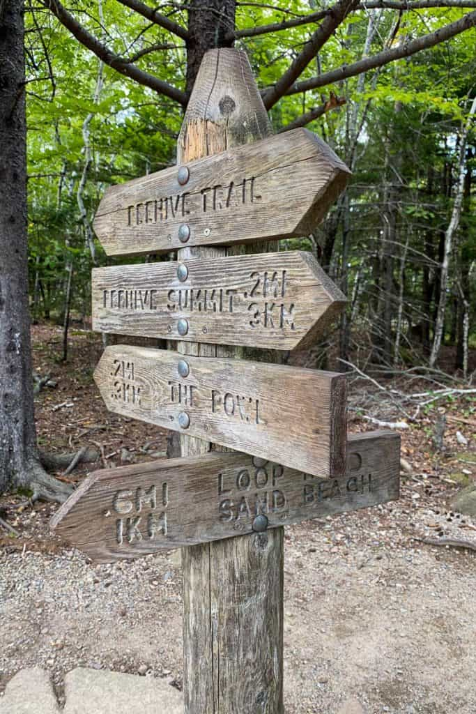 Beehive Trail Sign.