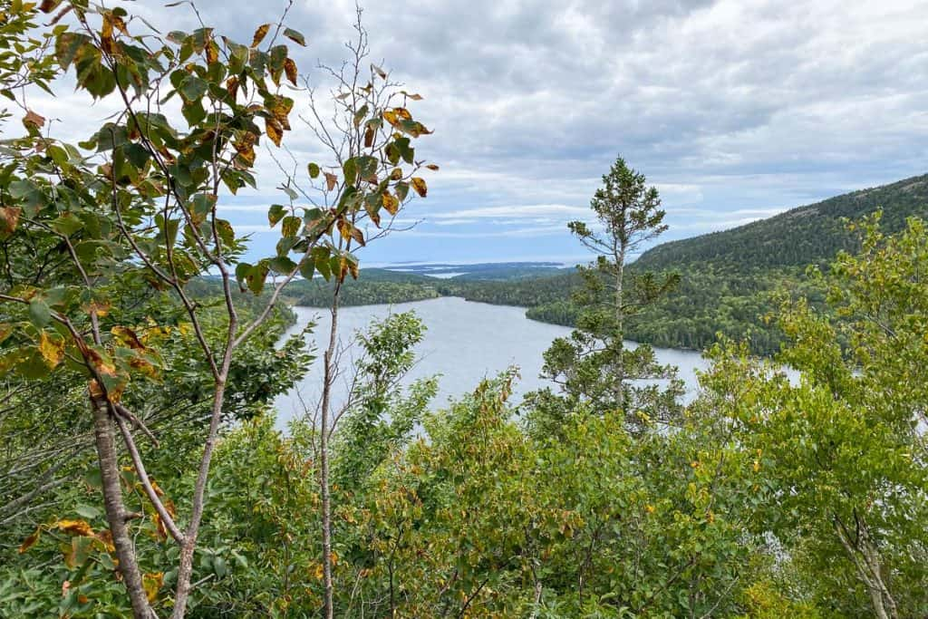 View of Jordan's Pond from Bubbles Trail.