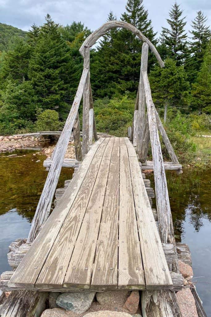 Bridge on Jordan's Pond Path.