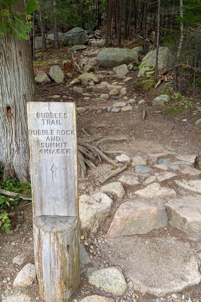 Bubbles Trail Sign.