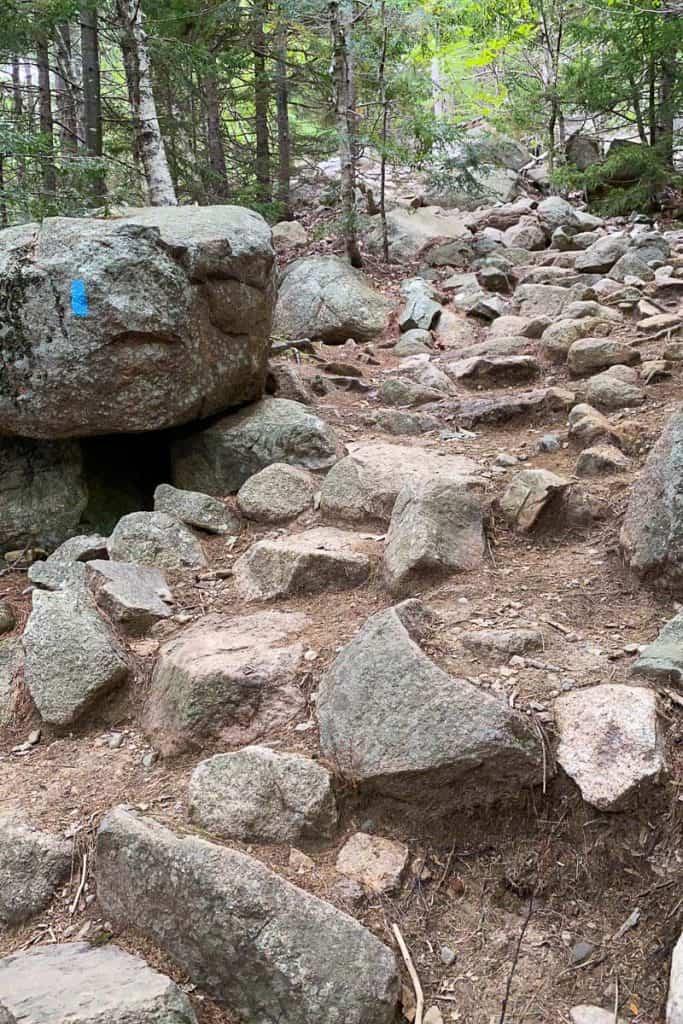 Steep + Rocky Bubbles Trail.