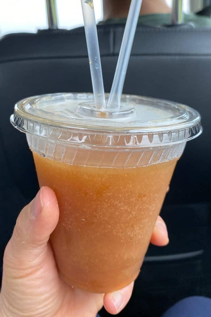 Apple Cider Slush.
