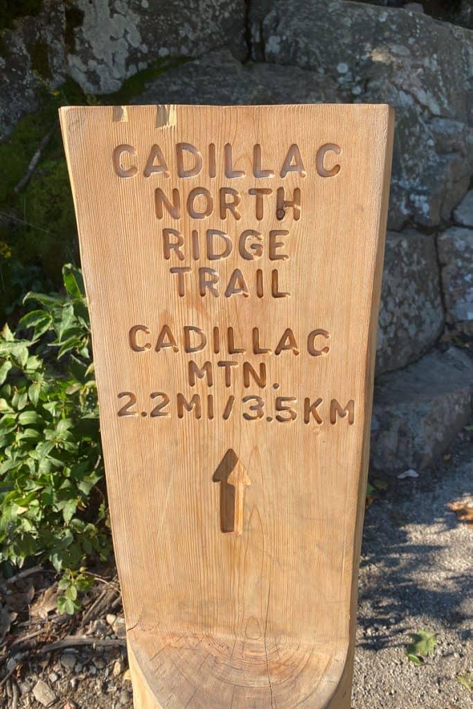 Cadillac North Ridge Trailhead.