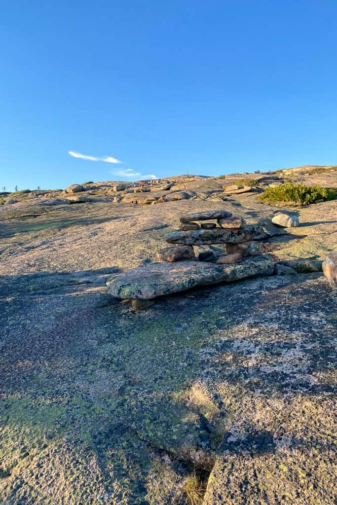 Rock Cairns on Cadillac North Ridge Trail.