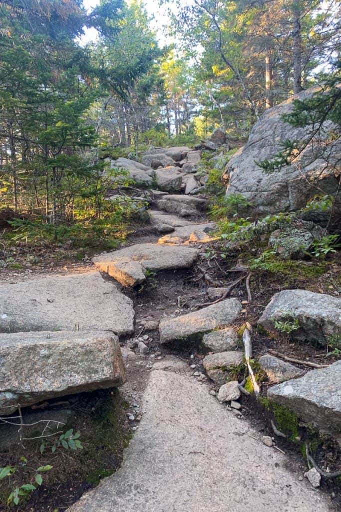 Stone Path Up Cadillac North Ridge Trail.