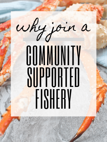 """graphic reading """"why join a community supported fishery""""."""