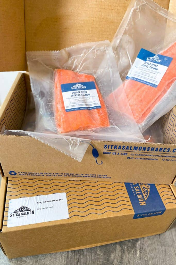 Fish Delivery from the Community Supported Fishery Sitka Salmon Shares.
