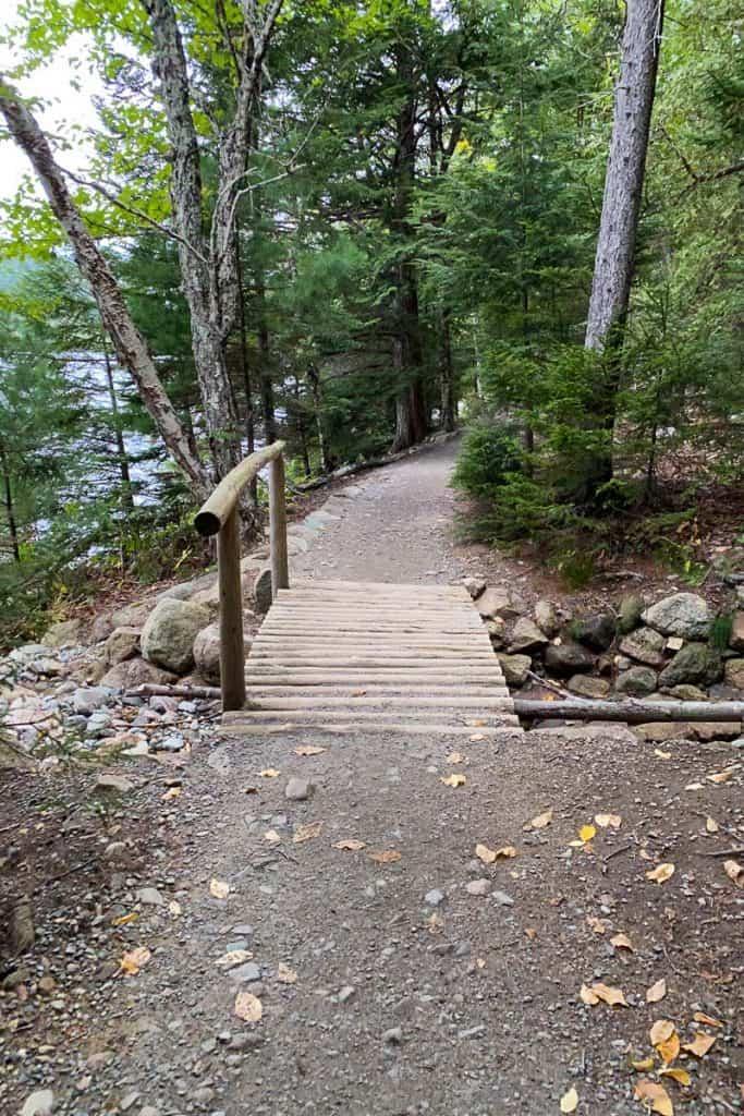 Bridge on Jordan Pond Path.