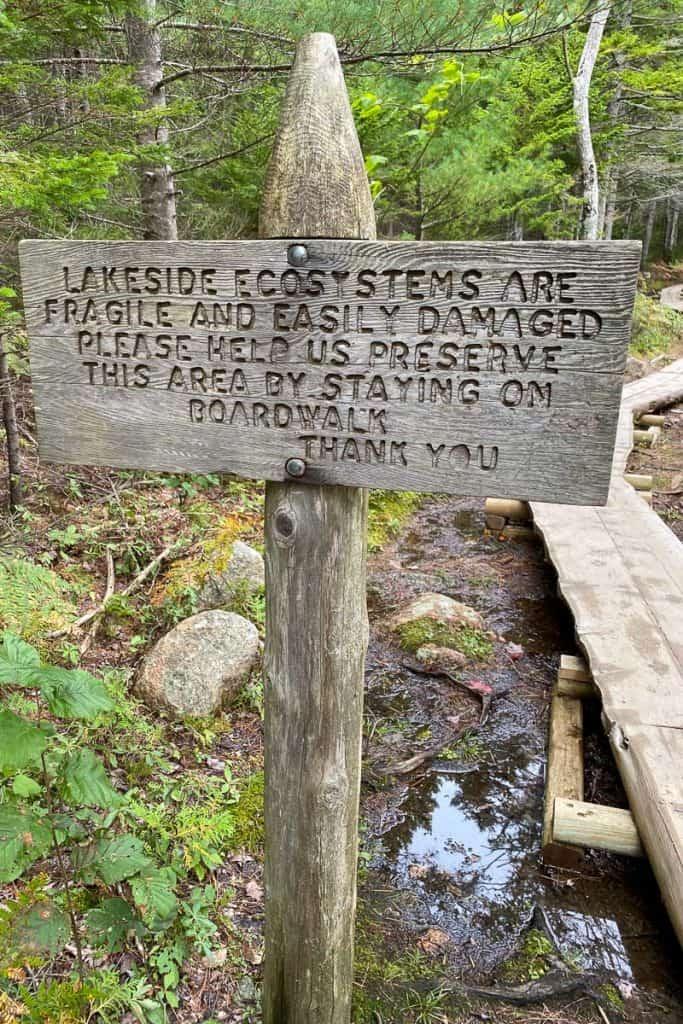 Board Walk Info Sign.
