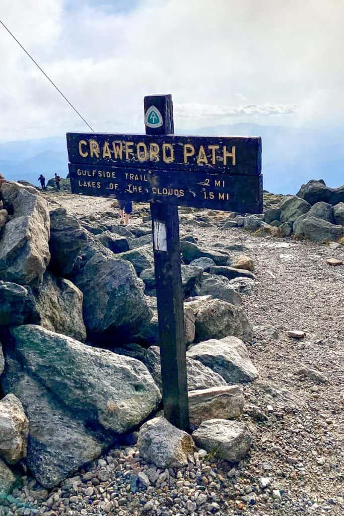 Crawford Path Trail Sign.