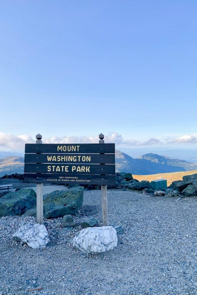Mt Washington State Park Sign.