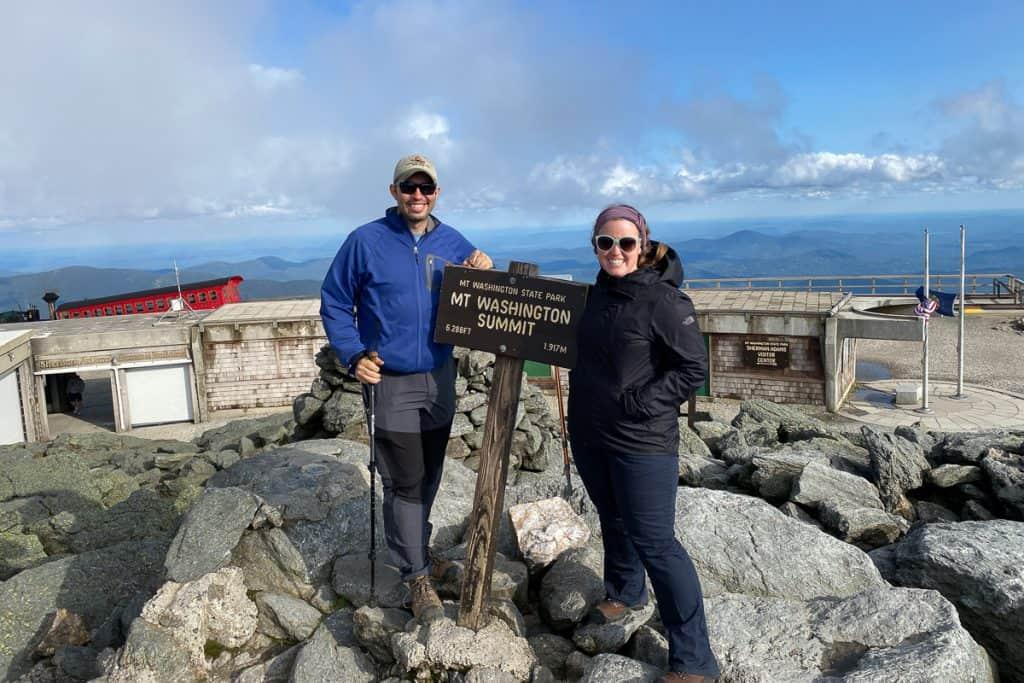 At the Mt Washington Summit.