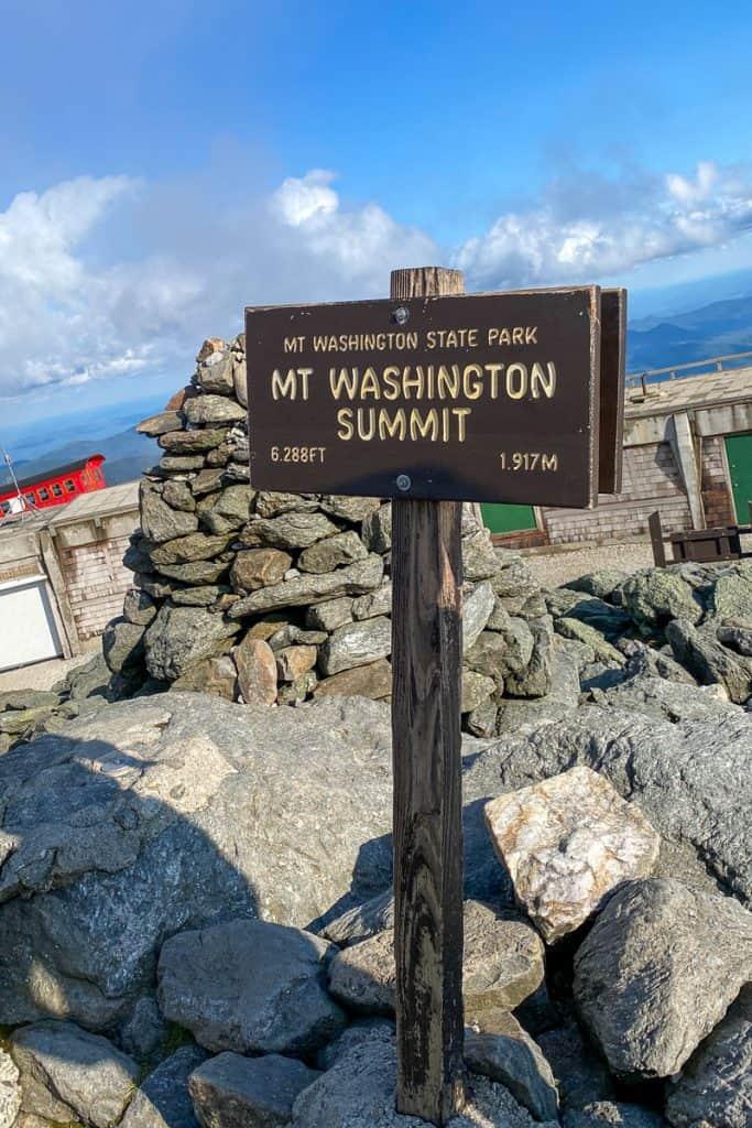 Mt Washington Summit Sign.