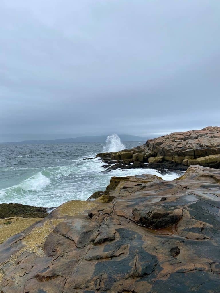 Waves at Schoodic Point.