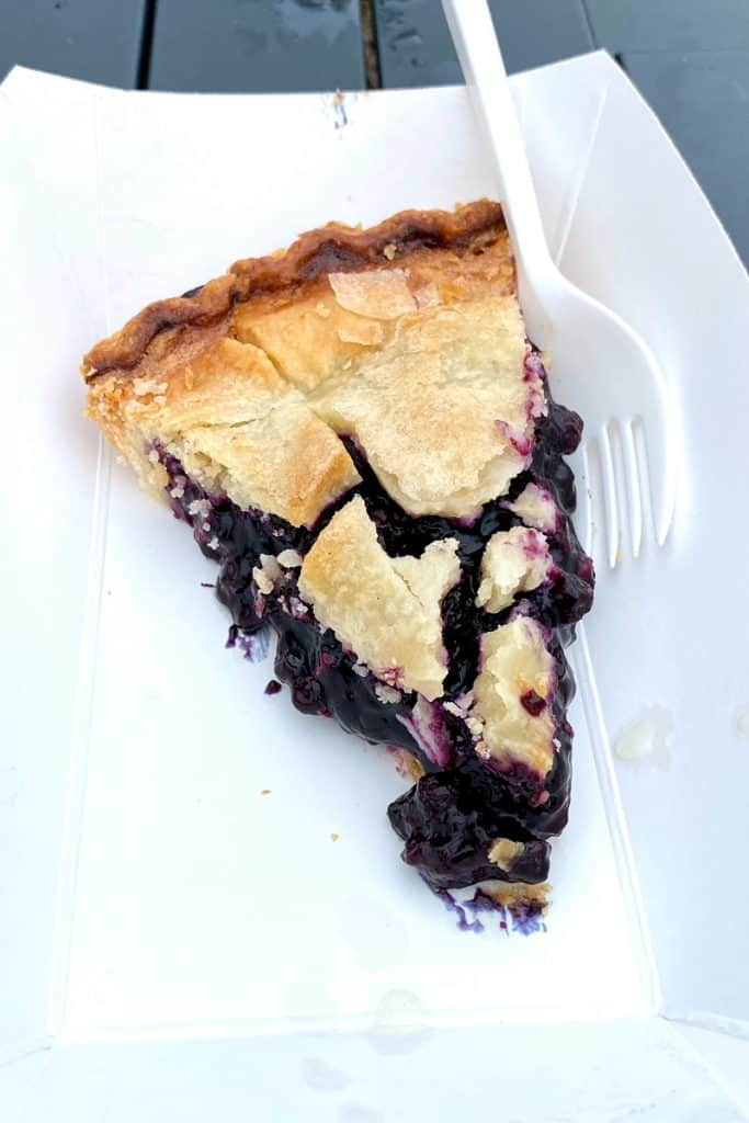 Slice of Maine Blueberry Pie.