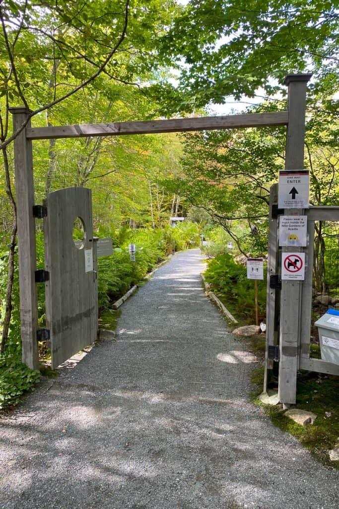Wild Gardens of Acadia Entrance.