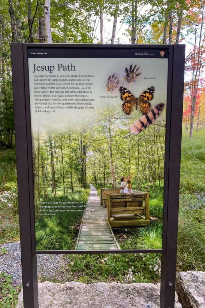 Jessup Path Information Board.